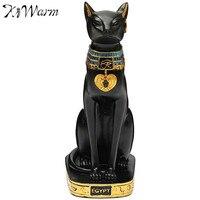 KiWarm Cổ Điển Ai Cập Cát Nữ Thần Figurine Black Cat Tượng Figurine Craft Ornament Trang Trí Văn Phòng Desktop Decor Thủ Công Mỹ Nghệ Quà