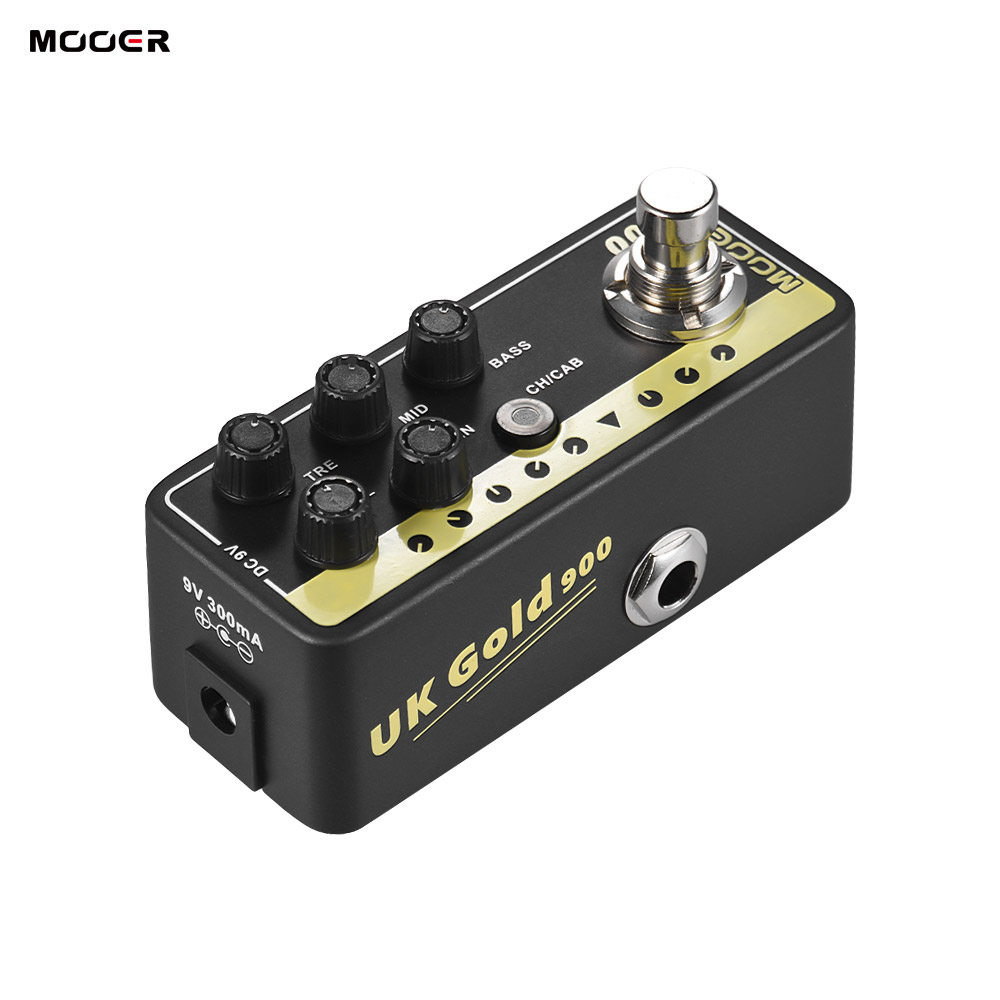 MOOER MICRO PREAMP 002 UK Gold British Crunch Digital Preamp Preamplifier Guitar Effect Pedal True Bypass