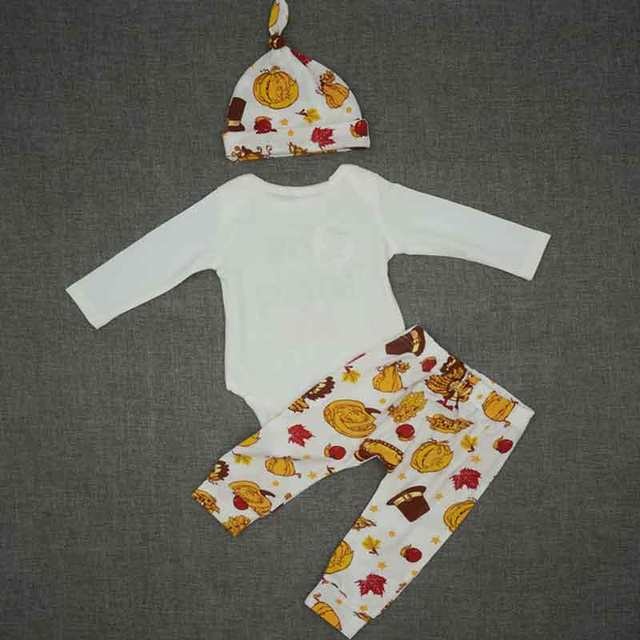 Online Shop My First Thanksgiving Baby Clothing Set Fall Long Sleeve