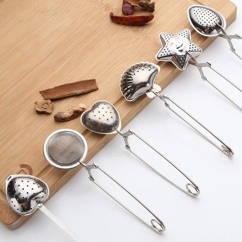 Sphère maille passoire à thé poignée en acier inoxydable boule à thé infuseur à thé cuisine Gadget café herbe filtre à épices diffuseur