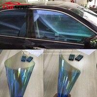 TXD 50x300cm/LOT Car Window Chameleon Tint Tint Film Glass VLT 75% Purple to Blue Solar UV Protection Summer Prevent Ultraviolet