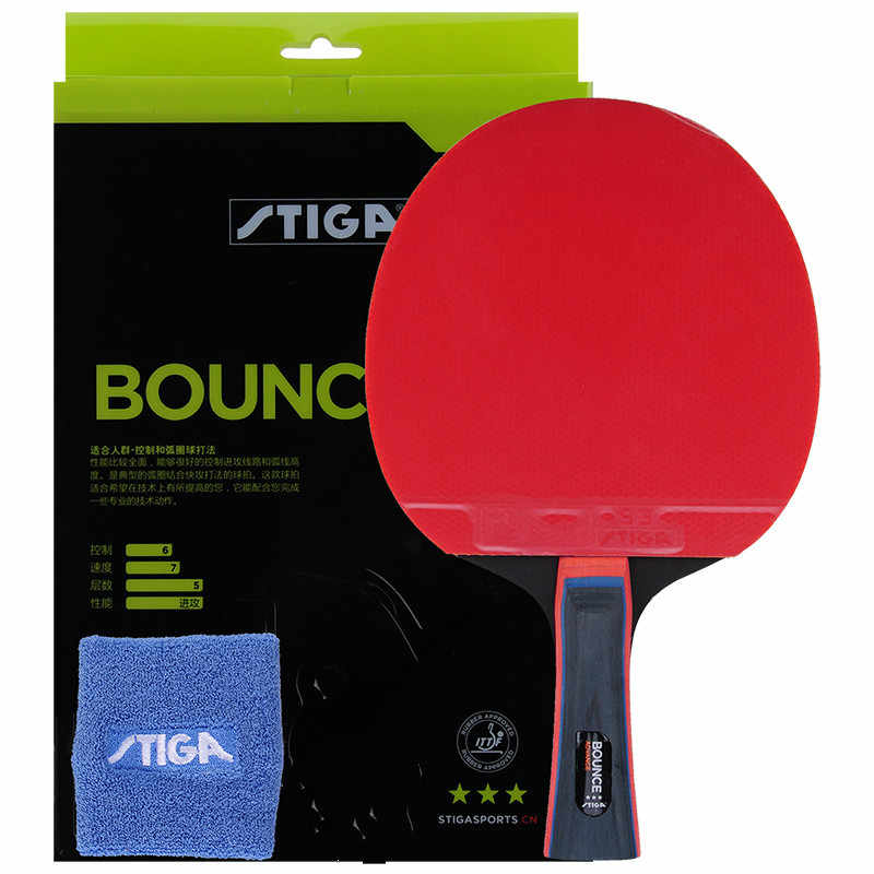 100% original Stiga PRO BOUNCE  3 stars Table Tennis Racket Ping Pong  pimples in rackets offensive