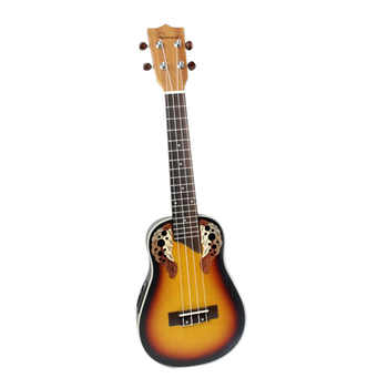 New 23 inch Compact Ukelele Ukulele Hawaiian Red Sunset Glow Spruce Rosewood Fretboard Bridge Concert Stringed Instrument with - DISCOUNT ITEM  7% OFF Sports & Entertainment