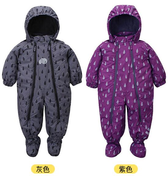 Newborn winter coveralls windproof warm overalls children's winter ski clothing newborn overalls 2018 spring winter warm