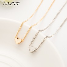 AILEND 2018 New Hot Trendy Tiny Heart Short Pendant Necklace Women Gold Chain Lover Lady Girl Gifts Bijoux Fashion Jewelry(China)