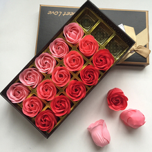 Valentine Day Gift Rose Soap Flower Gift Box Artificial Flower Heads Soap Flower Petals Birthday New Year Gift 18pcs/box