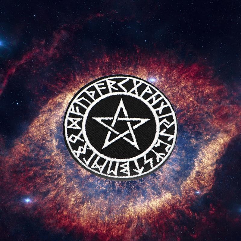 e4cb57a8124c3 2pcs/lot Evil Hexagram Magic Array Belief Power Embroidery Patch for ...