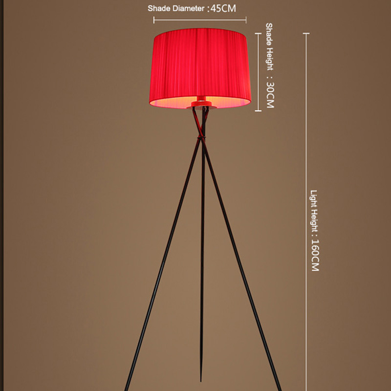 Neue Moderne Minimalistische 3 Bein Stativ Stehleuchte Stoffschirm Kreative  Stehenden Stehlampe Für Wohnzimmer Steht Lampen FL8 In Neue Moderne ...