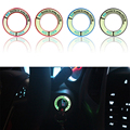 Luminous Alloy Car Ignition Switch Cover Auto Car Accessories Stickers for Honda: FIT City CIVIC Ciimo Accord CRV ODYSSEY E10599