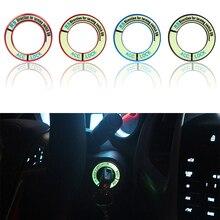 Luminous Legierung Auto Zündung Schalter Abdeckung Auto Auto Zubehör Aufkleber für Honda: FIT Stadt CIVIC Ciimo Accord CRV ODYSSEY E10599