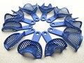 20 unids Azul de Acero de Plástico Bandejas de Impresión Dental Materiales Modelo De Prótesis Dental Supply envío gratis
