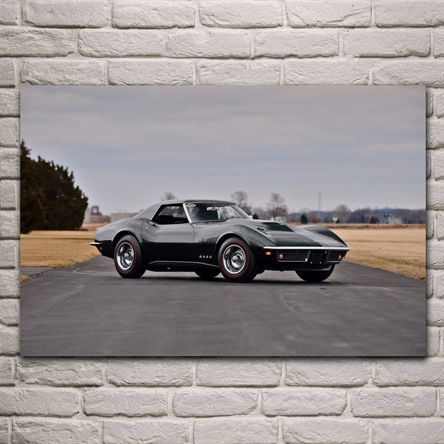 Pleasing Us 7 67 36 Off 1969 Corvette L88 Convertible Muscle Classic Old Usa Car Kd131 Living Room Home Wall Art Decor Wood Frame Fabric Posters Prints In Download Free Architecture Designs Scobabritishbridgeorg