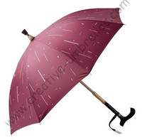 Crutch+Aluminum Umbrellas,8k ribs,pongee silver coating(2 times) fabric,14mm aluminum alloy shaft and fiberglass long ribs