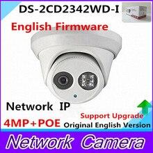 Newest Original English Version DS-2CD2342WD-I 4MP WDR EXIR Turret Network Camera MINI Dome IP Camera CCTV Camera 2.8mm Lens