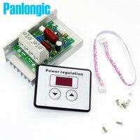 AC 220V 10000W 80A Digital Control SCR Electronic Voltage Regulator Speed Control Dimmer Thermostat Digital Display