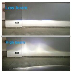 Image 5 - 2 قطعة 1.5 بوصة H4 LED جهاز عرض صغير عدسة للسيارات دراجة نارية عالية منخفضة شعاع LED تحويل عدة مصباح المصباح 12 فولت/24 فولت 5500 كيلو