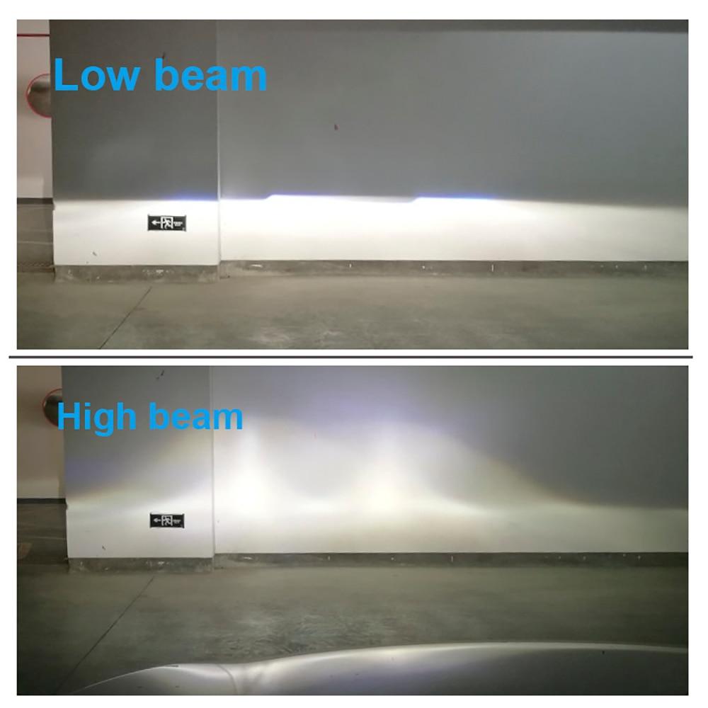 2pcs 1.5 inch H4 LED Mini Projector Lens For Automobile Motorcycle High Low Beam LED Conversion Kit Lamp Headlight 12V/24V 5500K
