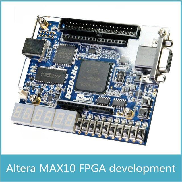 Kostenloser versand Altera MAX10 10M50 CPLD Development Board Altera DE10 lite mit 64MB SDRAM mit Arduino R3 Stecker USB Blaster