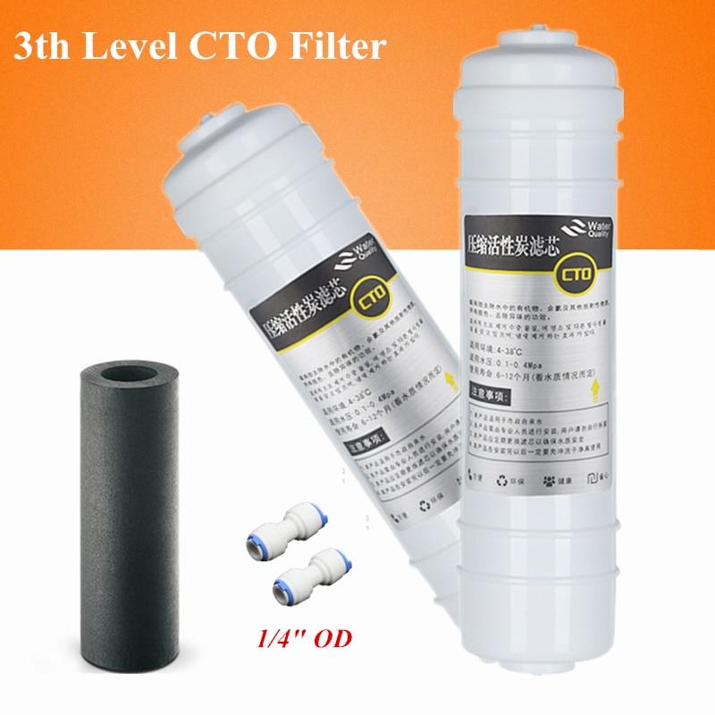 Интегрированный Quick Connect очиститель воды фильтр предварительной очистки CTO сжатый активированный уголь палкой элемент