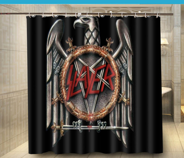Slayer Bands Music Heavy Metal Hard Custom Fashion Shower Curtain 180x180cm Waterproof Fabric Decor
