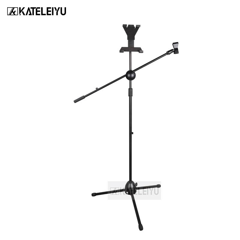 все цены на NB-305A Professional swing boom floor stand microphone holder Flexible Stage Microphone Stand Tripod онлайн