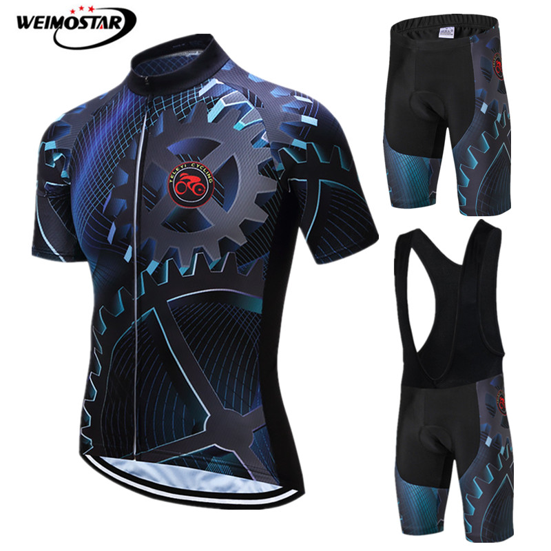 Weimostar Gear Cycling Clothing Men 2019 Pro Team Bicycle Cycling Jersey Set Summer Short Sleeve MTB Bike Clothing Ropa Ciclismo