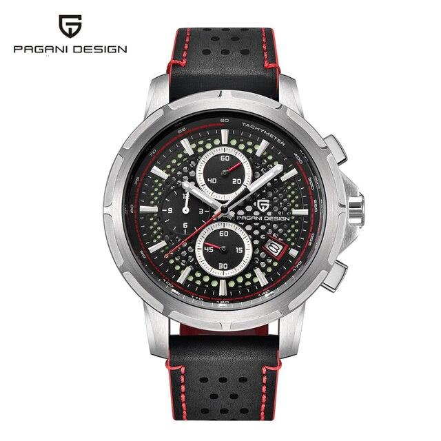 PAGANI DESIGN Luxury Brand Mens Watch Quartz Watch Mens Leather Business Watch Luminous Depth Waterproof Design Watch