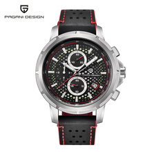 Pagani design 럭셔리 브랜드 남성용 쿼츠 시계 남성용 가죽 비즈니스 시계 축광 깊이 방수 디자인 시계