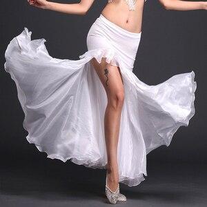 Image 2 - Rumba,Cha cha dance skirt girls belly dance clothes skirt luxury velvet  of skirt sexy fashion dress of women belly dance skirt