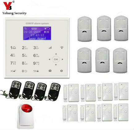 YobangSecurity Wireless Wired GSM WIFI Home Security Burglar Alarm System Kit Auto Dialing Dialer Android iOS APP Wireless Siren wireless smoke fire detector for wireless for touch keypad panel wifi gsm home security burglar voice alarm system