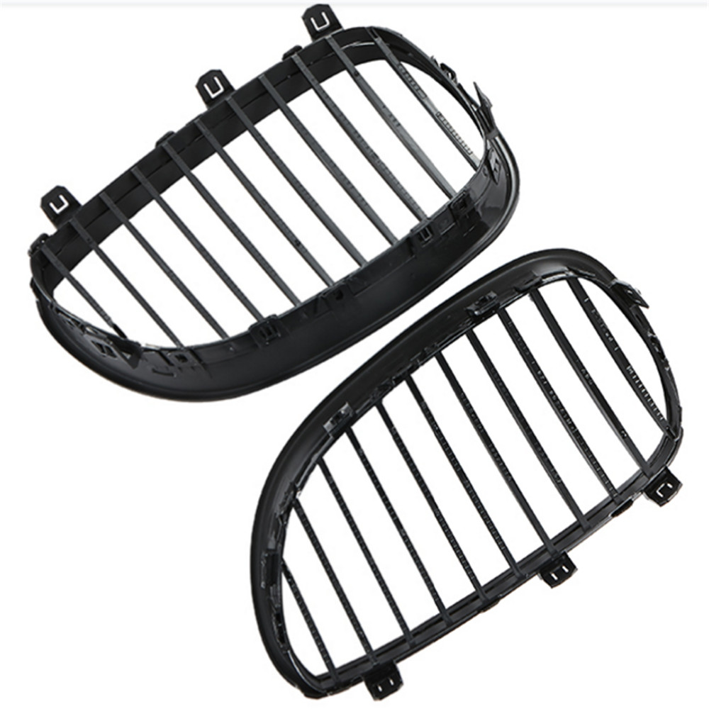 Image 3 - 1 Pair Car Grill Racing Grille Matte Black For BMW 5 Series E60 E61 M5 2004 2009 520d 525 Car Styling Front Grille Kidney Grille-in Racing Grills from Automobiles & Motorcycles