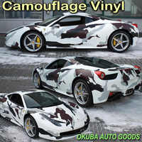 Black White Snow Arctic Camo Vinyl Camouflage Vinyl Film Car Wrapping Foil Camouflage Film Truck Vinyl Wrap 1.52*30m/roll