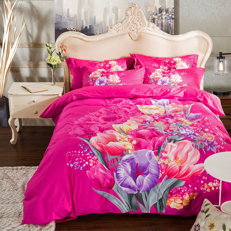 colorful tulip flowers bedding sets queen u0026 king size duvet covers flat bed sheets with