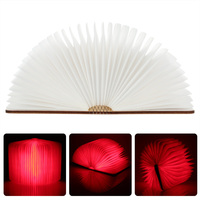 LED Rechargeable Folding Book Light 4.5W 500LM Battery Operated Changeable Shape Table Lamp Fixture Indoor