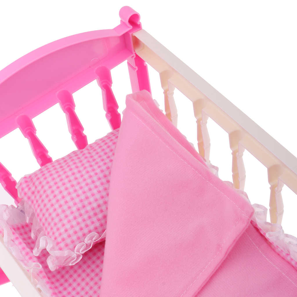 2 Piece Set Baby Doll Accessories Includes Crib Bed Baby Doll
