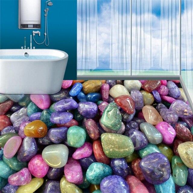 Beibehang Bunten stein romantische farbige stein boden bad 3D PVC ...