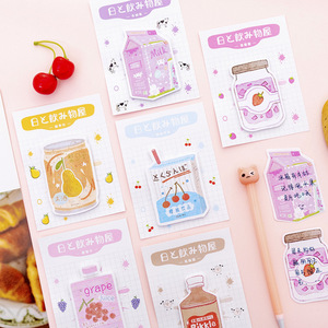 Image 2 - 32 pcs/lot Japanese Drink N Times Memo Pad Cute Self Adhesive Sticky Notes Bookmark Stationery Label Notepad School Supplies