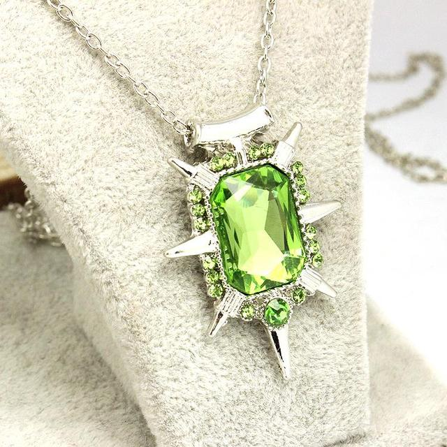 Once upon a time wicked witch Zelena glinda glass pendant Necklace