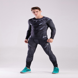 Black panther 3d printed pattern compression tights pants men gymshark captain america fitness skinny leggings trousers.jpg 250x250