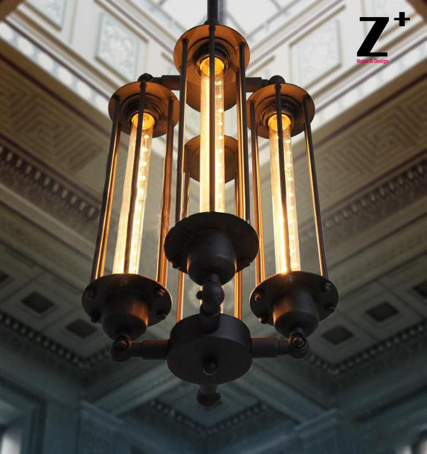 Replica Item American Style Pendant Light GRAND EDISON GLASS 4 Bulb Edison Iron Lamp Industrial