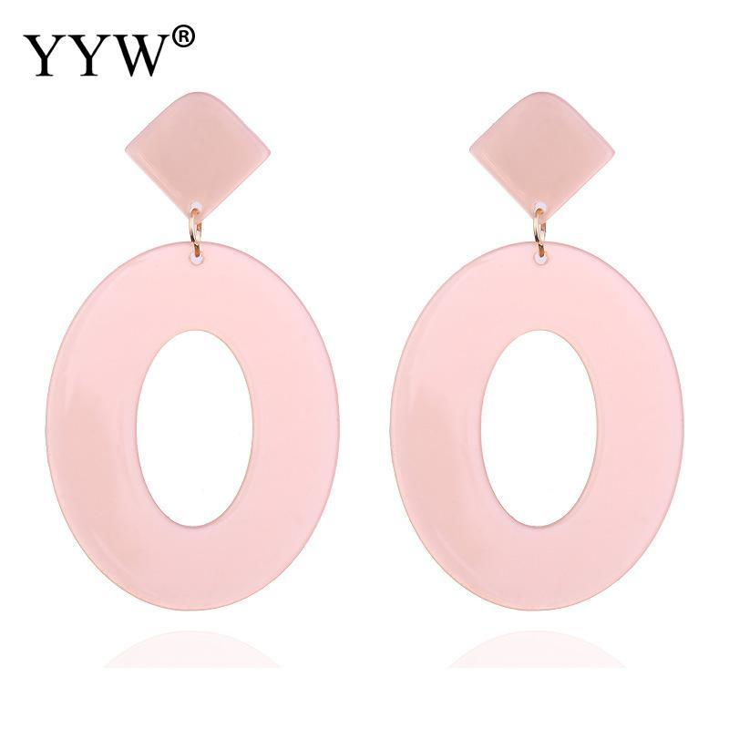 Earrings Pendant Resin Oval New Acrylic 2019 Geometric Jewelry Gift Women Drop Earring Round Tortoise Dangle Earrings Fashion in Drop Earrings from Jewelry Accessories