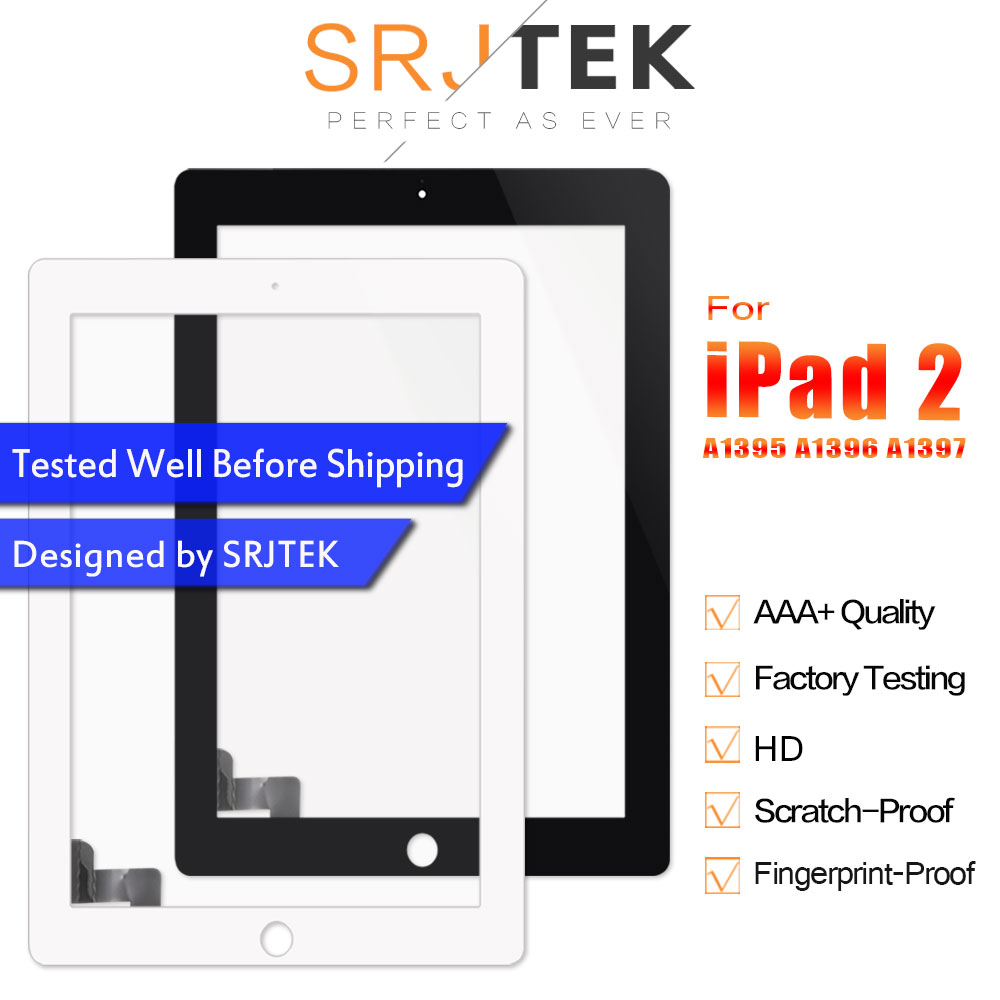 For IPad 2 Touch Screen Digitizer Replacement A1395 A1396 Touch A1397 For IPad2 Screen Glass Sensor Panel With Home Button