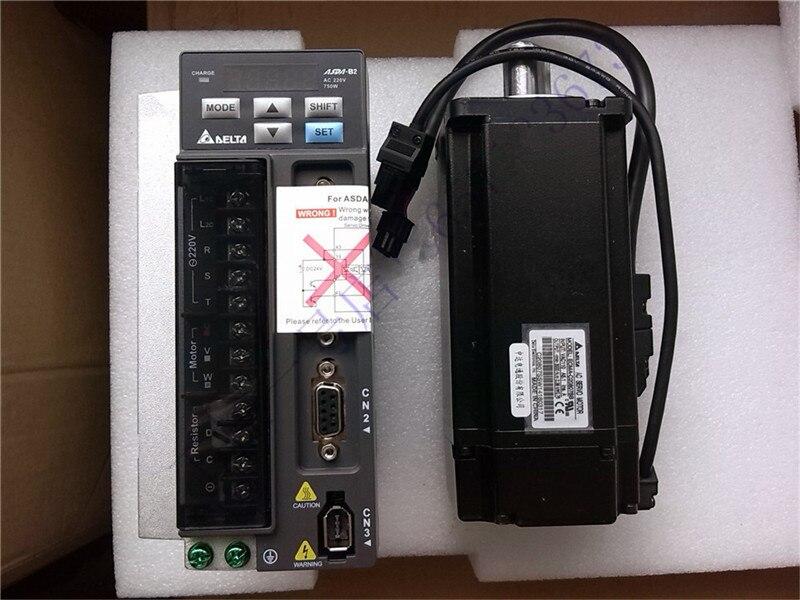 ECMA-G21306RS + ASD-B2-0721-B DELTA 0.6kw 1000 tr/min 5.73N.m ASDA-B2 kits de pilote de servomoteur à courant alternatif avec câble d'alimentation et d'encodeur 3 m