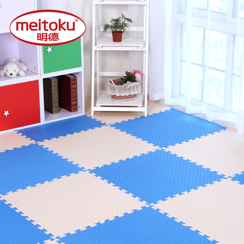 6pcs/lot Meitoku baby EVA Foam Play Puzzle Mat for kids/ Interlocking Exercise Tiles Floor Rug carpet ,Each 60x60cm thick 12mm