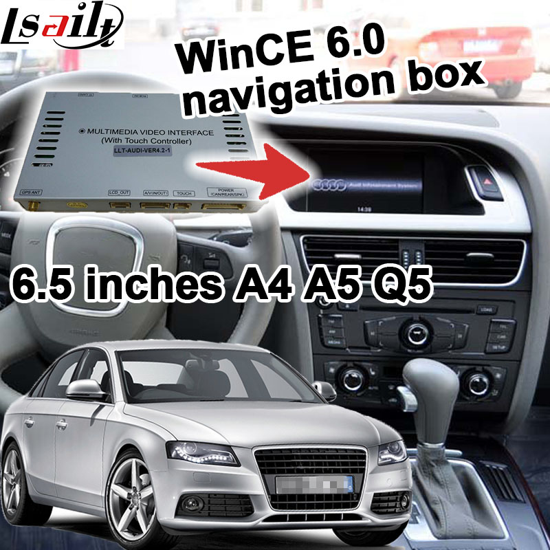 GPS navigation box for 2009 2016 Audi A4 A5 6 5 inches display video interface touch