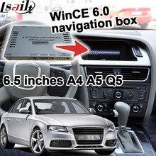 Cuadro de navegación GPS para 2009-2016 Audi A4 A5 (pantalla de 6.5 pulgadas) interfaz de vídeo táctil bluetooth actualización etc