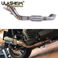 NMAX155 Motorcycle Exhaust Pipe Scooter Front of Exhaust Pipe Stainless Steel Slip On Full System For YAMAHA NMAX 155 N MAX 155