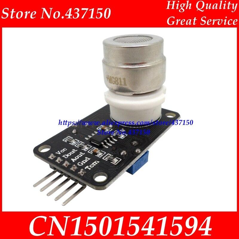 Image 4 - 1 個の X NEW CO2 センサーモジュール MG811 モジュールアナログ出力と TTL 出力 0 2 V 送料無料module adaptermodule gearmodule dsp -