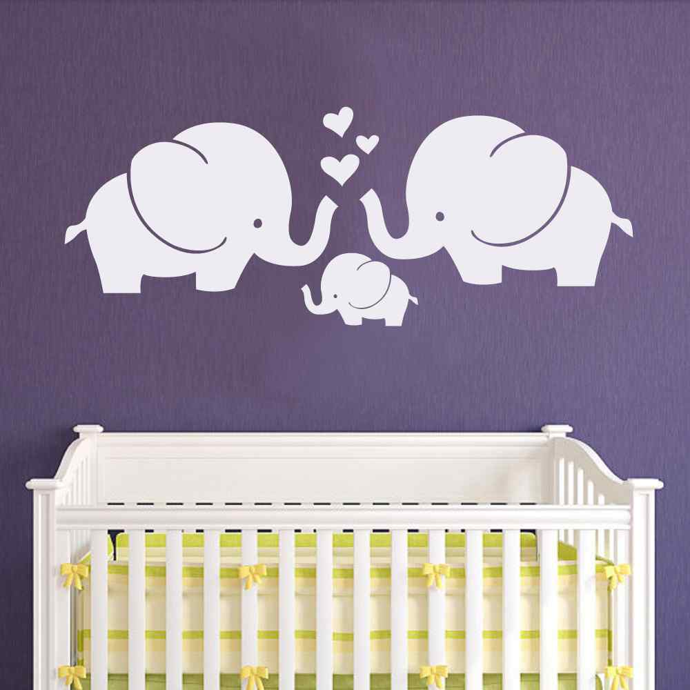 Elephant Family Wall Decal Nursery Elephant Wall Decal