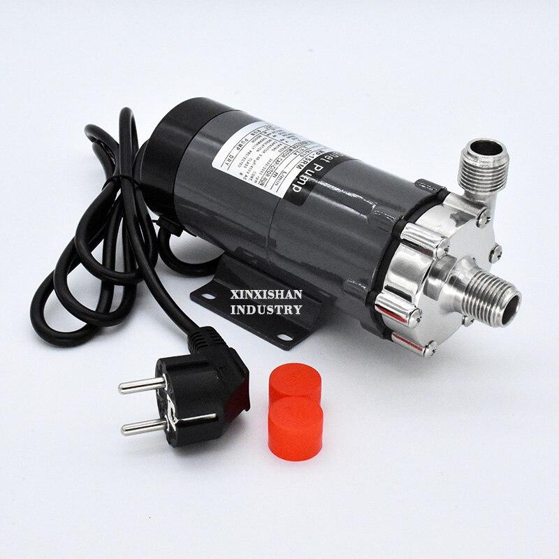 HomeBrew Pompe MP-15R de Qualité Alimentaire 304 Acier Inoxydable Brassage Home brew 220 v Magnétique Pompe À Eau Température 140C 1/2
